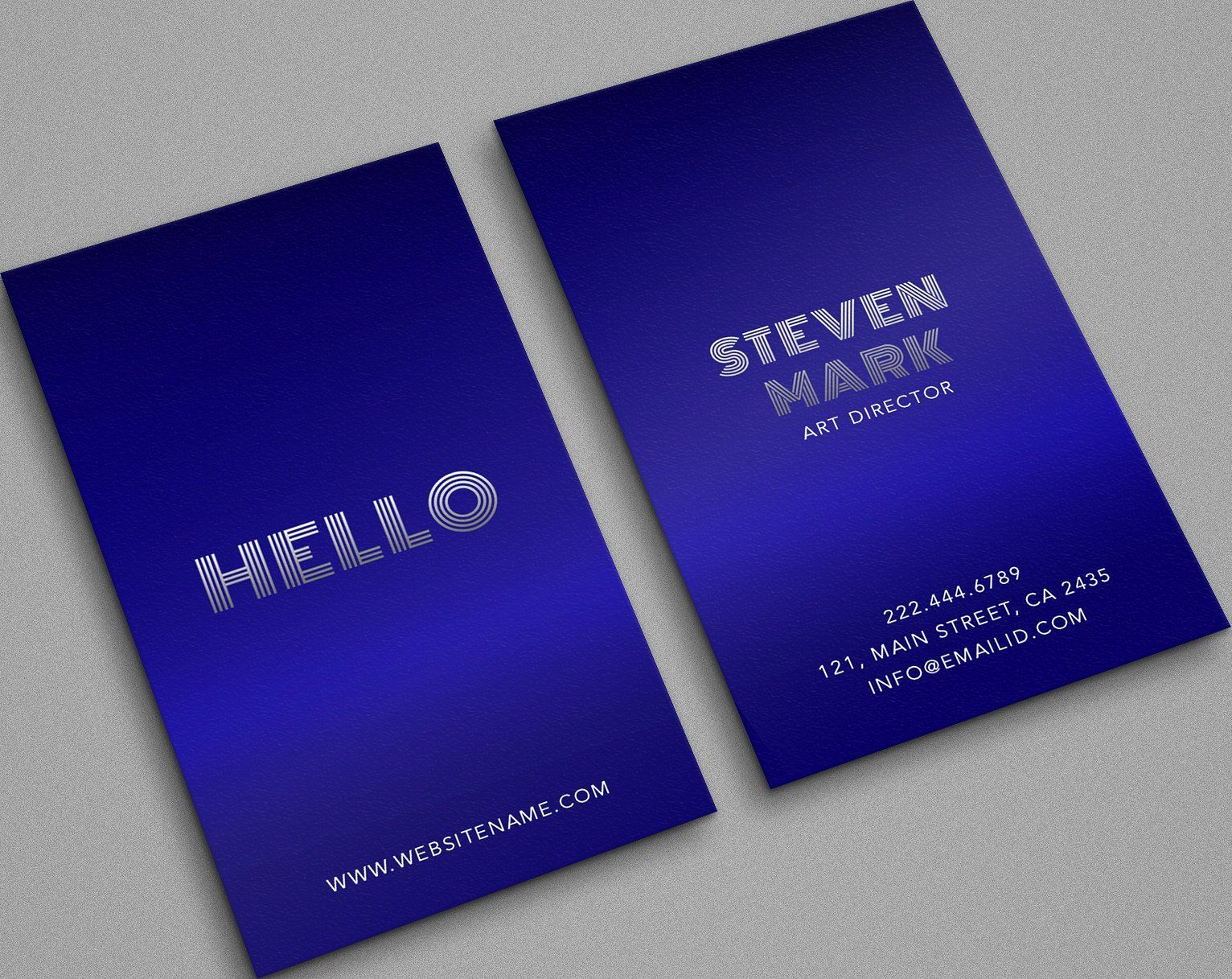 beautiful blue trending classy card  business card
