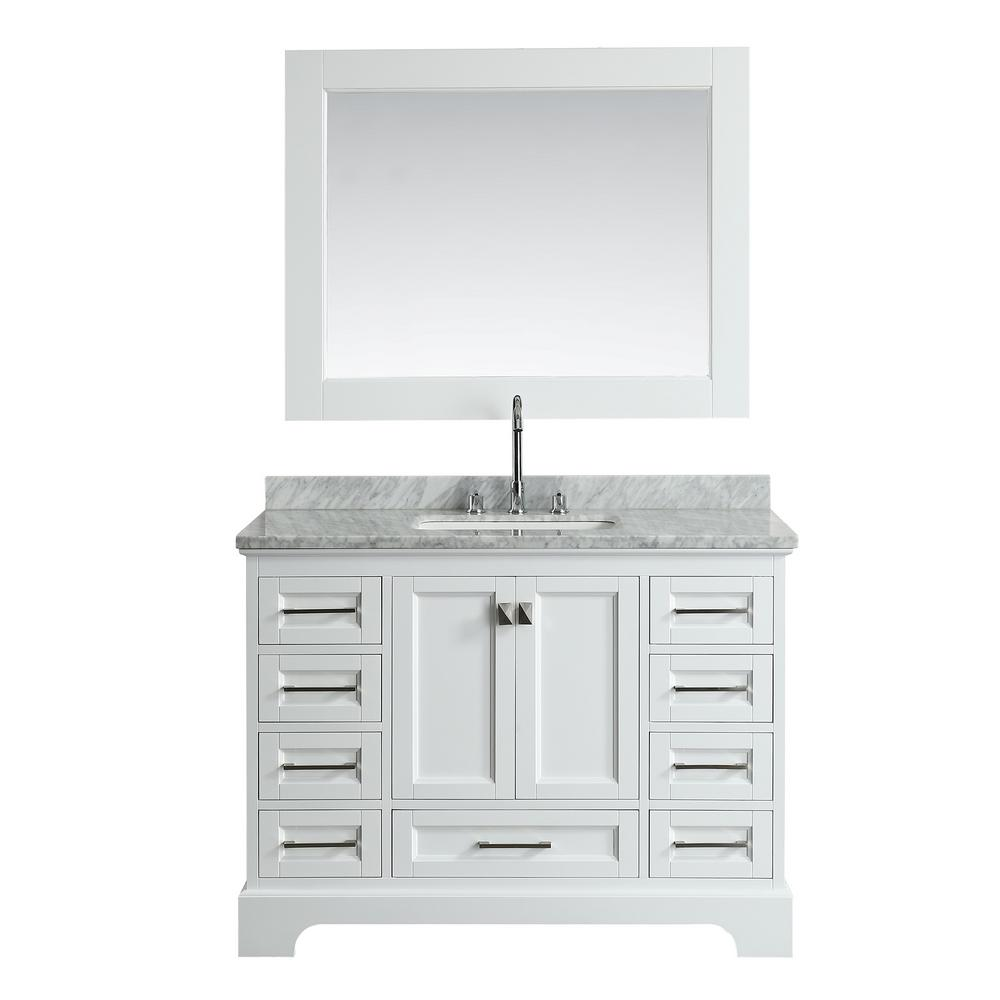 Design Element Omega 48 In W X 22 In D Vanity In White With