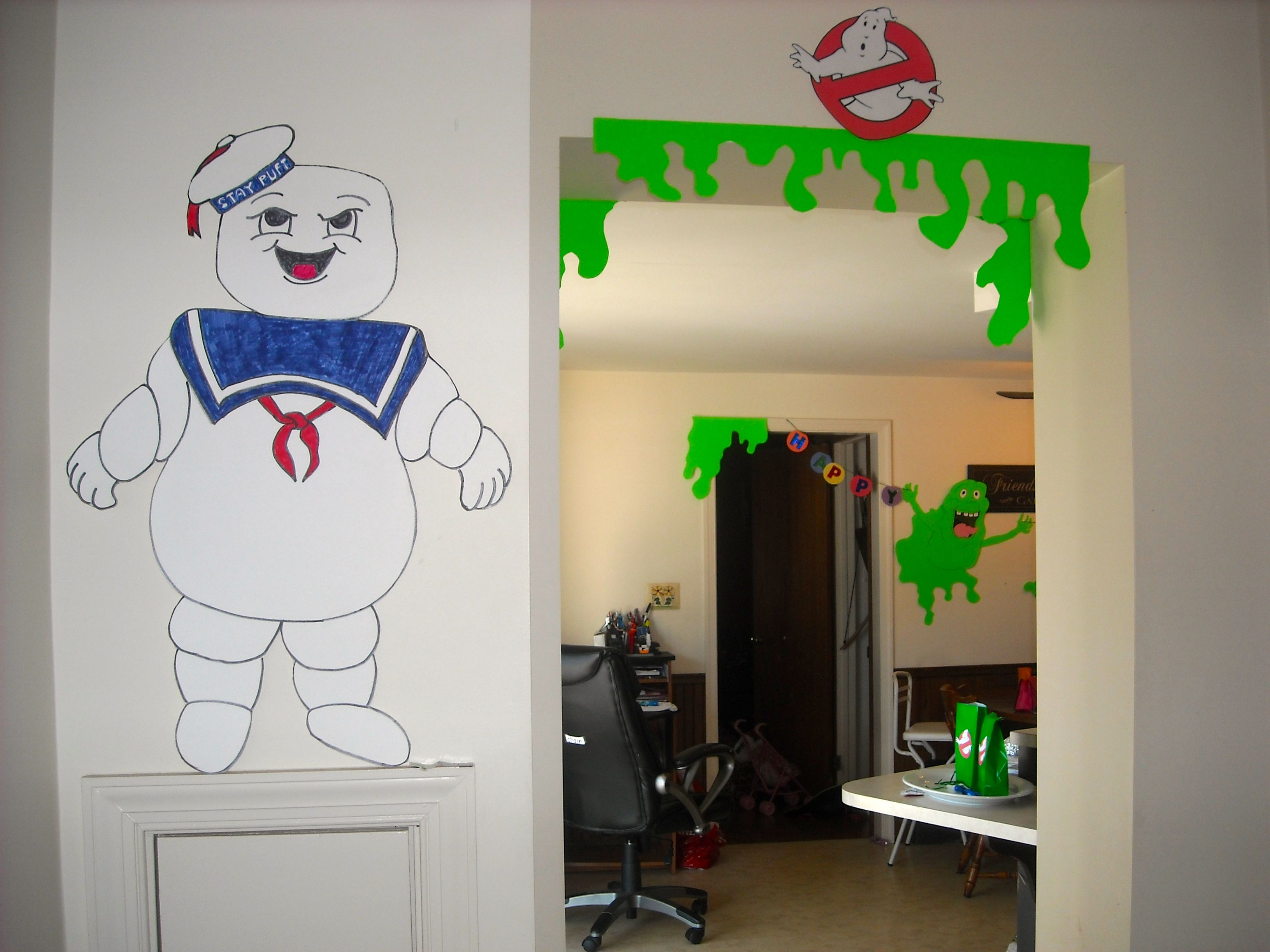 Entryway Decorations That I Drew Ghostbusters Party Ghost Busters Party Ghostbusters