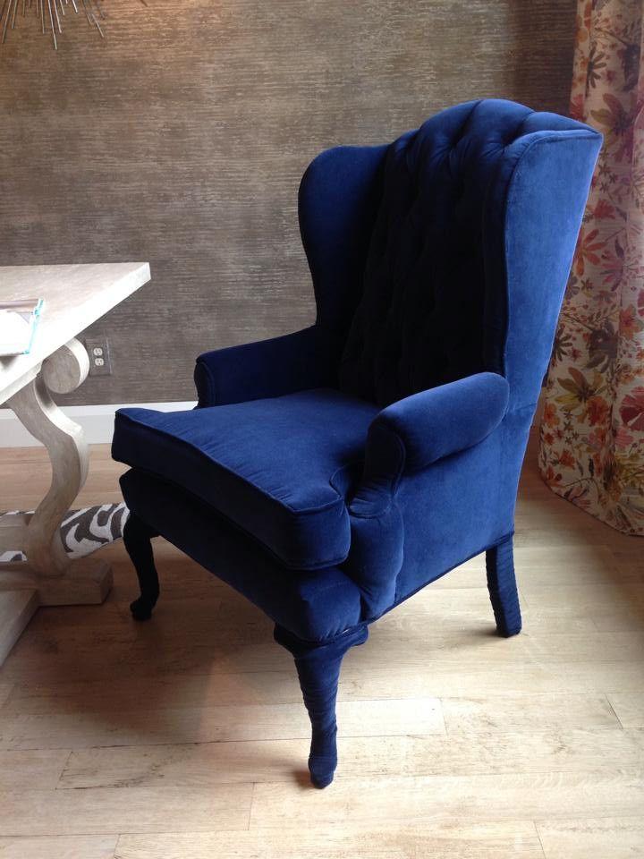 Vintage Wing Back | Muebles estilo art nouveau, Art nouveau y Azul