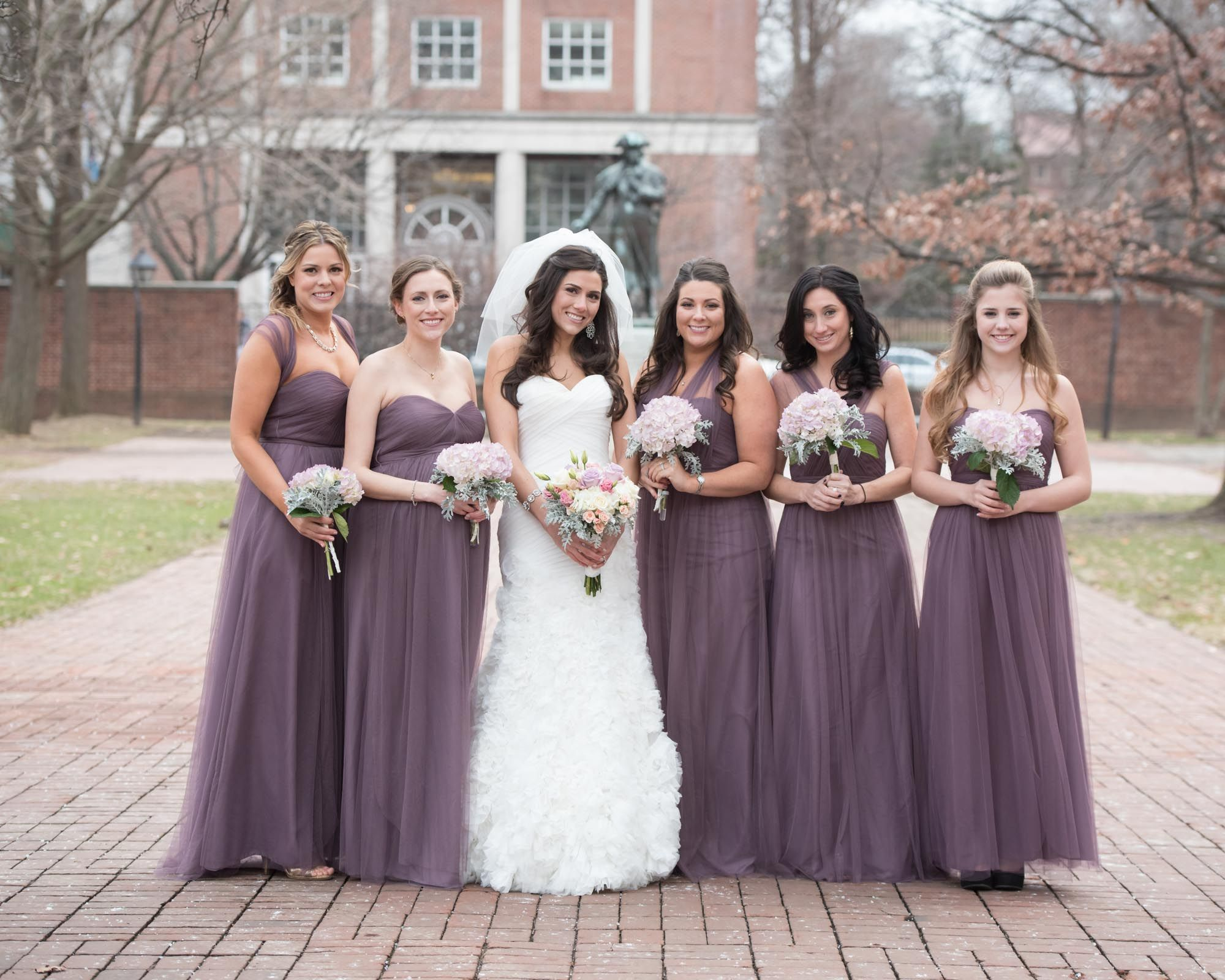 Jenny Yoo Bridesmaid Dresses in Plum | bridesmaid dresses | Pinterest