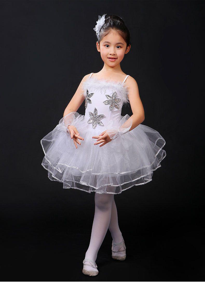 d0125e74e0b0c Blanc Cygne Lac Classique Professionnel Ballet Tutu vêtements Filles  Costume De Danse Performance Ballet Robe pour Enfants dans ballet de  Nouveauté et une ...