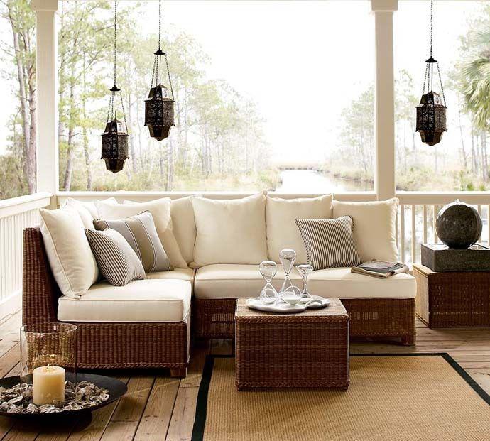 Fabulous #outdoor furniture...I also like hanging #lanterns!