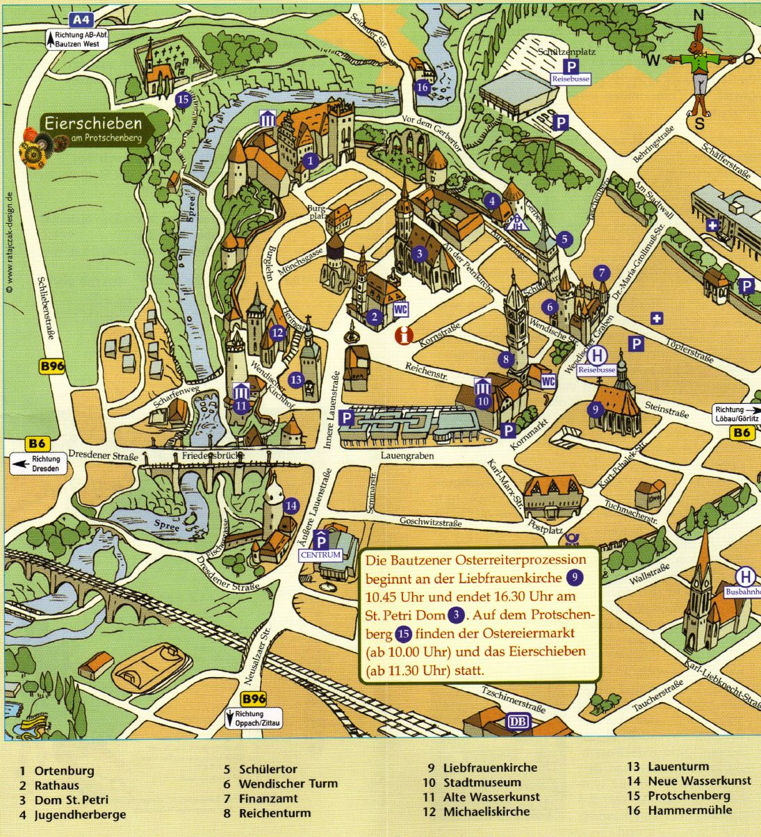 Tourist Map Of Germany.Bautzen Map Cestovani Germany Travel Germany Tourist Map