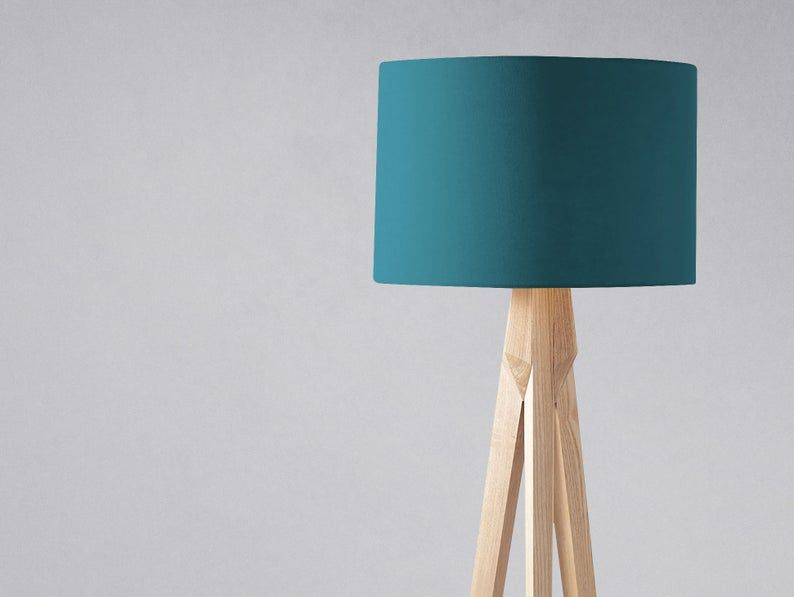 Plain Teal Lampshade For A Table Lamp Blue Floor Lamp Or A Image 0 Blue Floor Lamps Pendant Ceiling Lamp Drum Lampshade