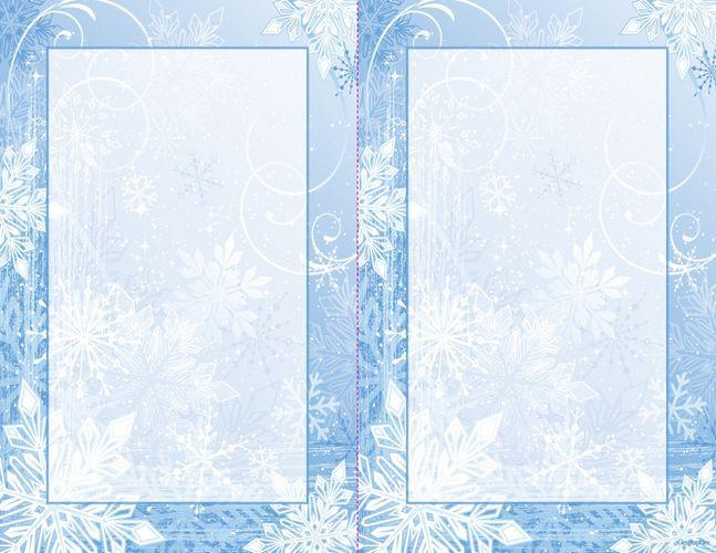 Winter Wonderland 2 UP Christmas Invitations w  Envelopes, 55x85 - free templates christmas invitations