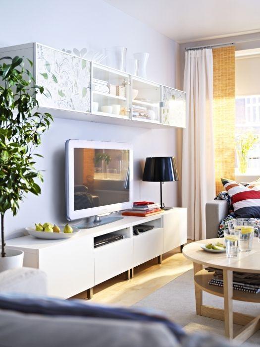 Decoraci n 15 composiciones de muebles tv con la serie for Pegatinas decorativas pared ikea