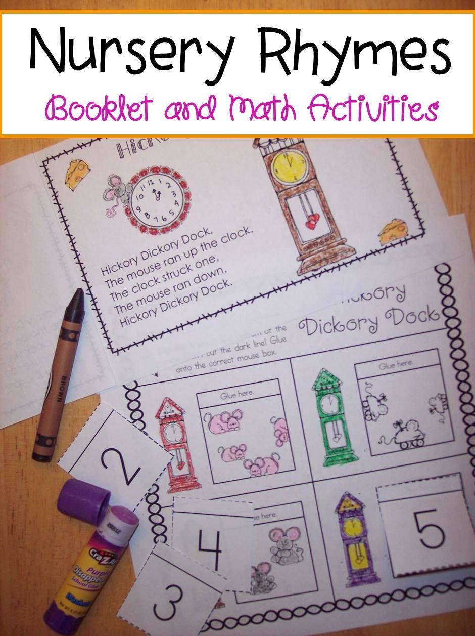 Learn Numbers And Nursery Rhymes In Kindergarten Rhyming Activities Math Preschool