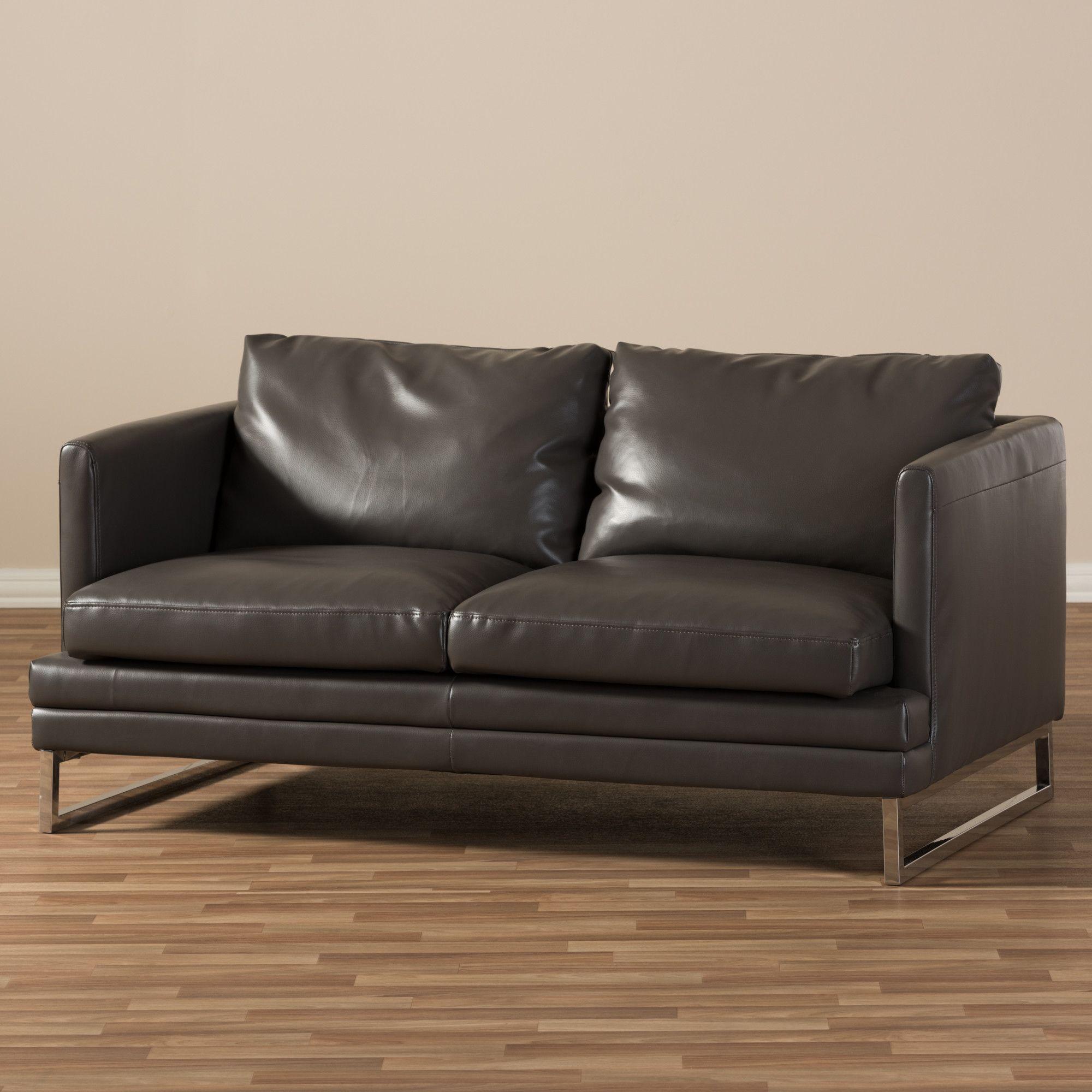 Outstanding Baxton Studio Dakota Leather Loveseat Products Leather Creativecarmelina Interior Chair Design Creativecarmelinacom
