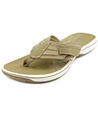 4557fd9e0f5e CLARKS CLARKS NARRATIVE BRINKLEY DERRY WOMEN OPEN TOE SYNTHETIC GRAY FLIP  FLOP SANDAL.  clarks