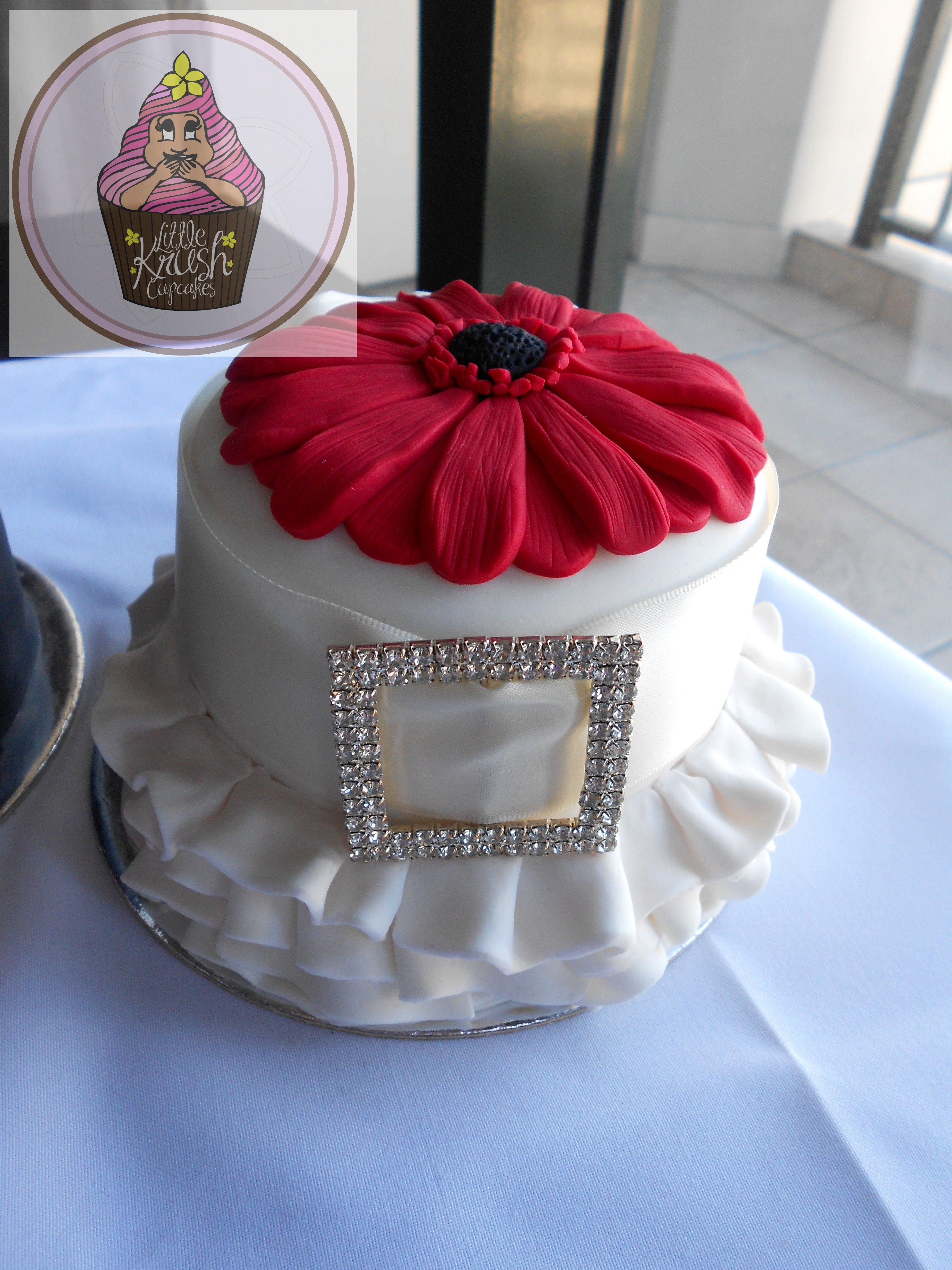 """Wedding anniversary cake a small 4"""" cake, designed to look"""