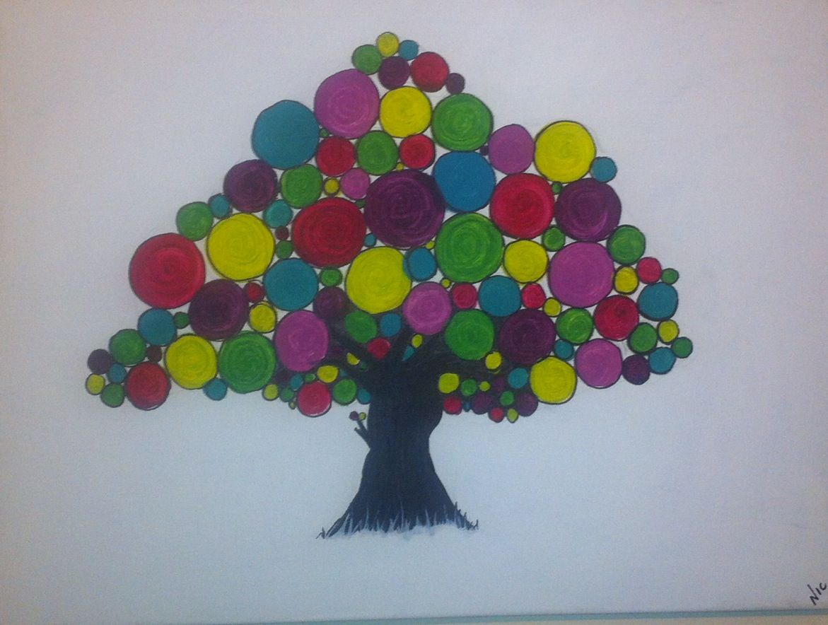 Tree of colour canvas