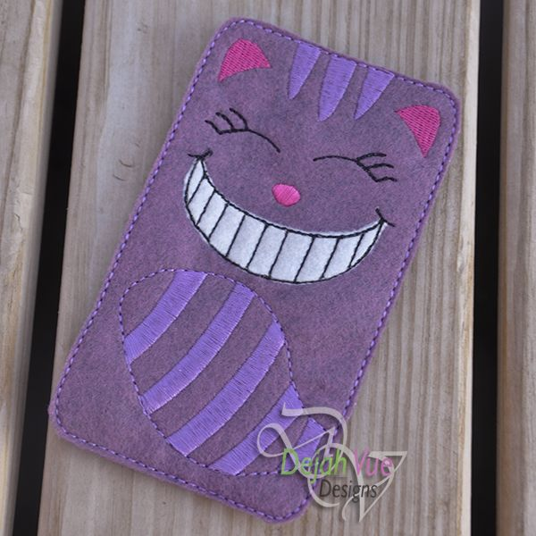 Smiley Cat Phone Case ITH Embroidery Design