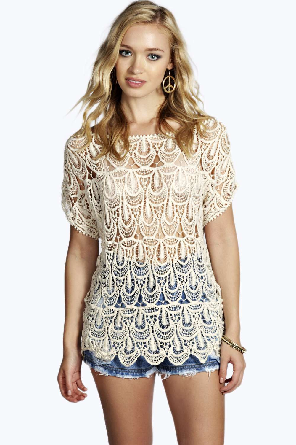 a4e3b17cf02c Abbey Short Sleeve Crochet alternative image 20 Off, Boohoo, Knitwear,  Alternative, Knits