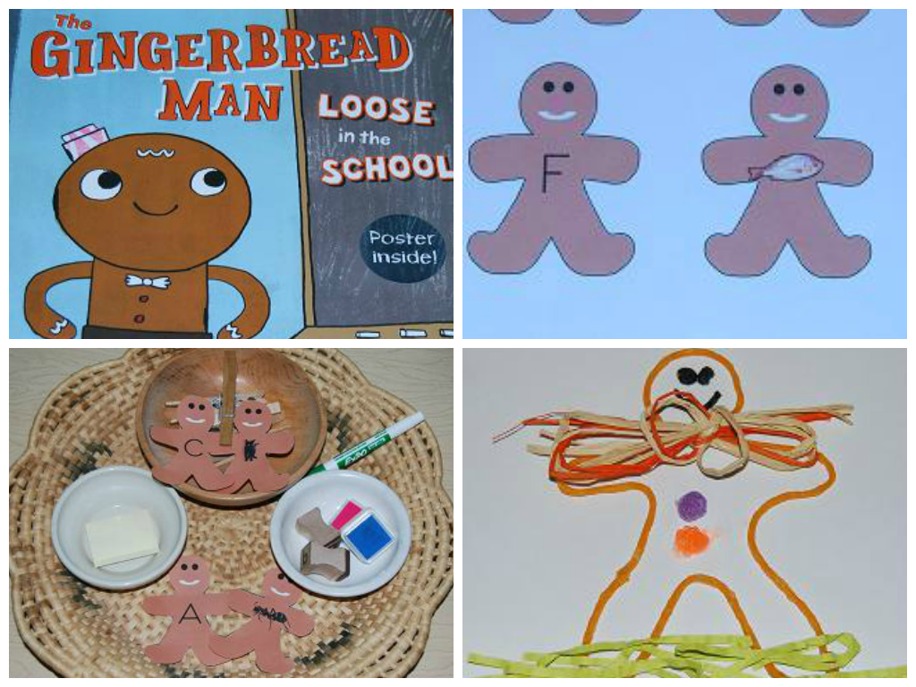 Gingerbread Man Rhyme And Candy House Craft For
