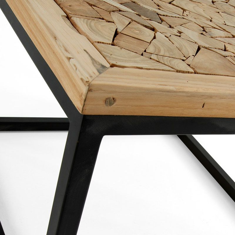 Mesas madera corning industrial cable spool coffee table for Mesa hierro y madera
