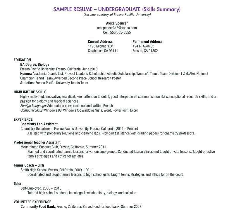37+ Sample resume objective statement for college students Examples