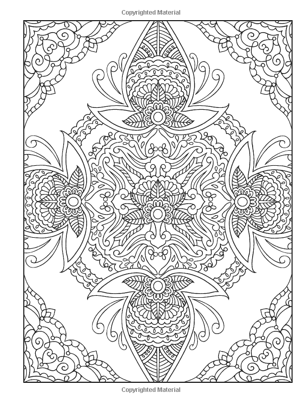 Creative Haven PAISLEY PATTERNS Coloring Book Deluxe Edition 4 Books In 1 Dover Marty Noble Kelly A Baker