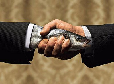 don't give a fishy handshake! hands should meet web to web. | Moin ...