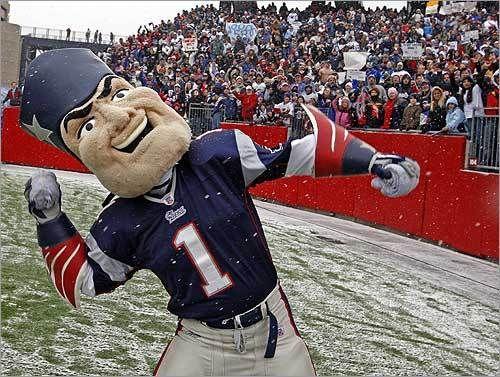 New England Patriots Mascot - Pat Patriot Created by Street Characters Inc. 337ea44844ea