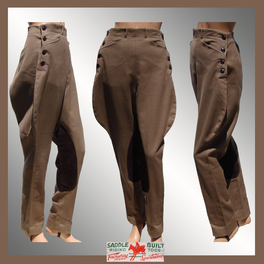 Ladies Wearing Old Fashioned Riding Breeches
