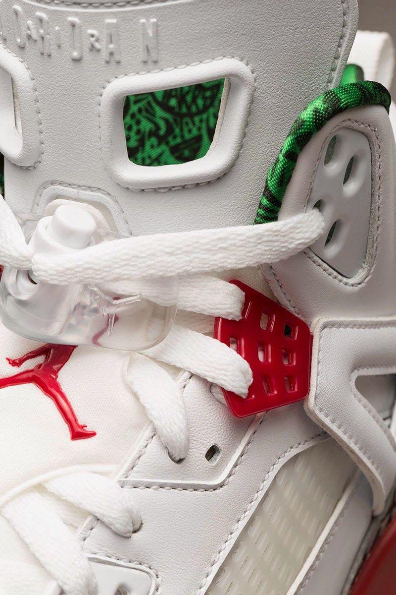 new product 997ed dbd2e  Nike  Air  Jordan Spiz ike  OG  White Cement Grey-Classic Green-Varsity Red  315371-125  Sneakers  spizike