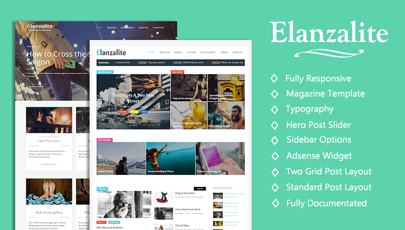 Elanzalite - A powerful theme made with love for Magazine, Newspaper ...