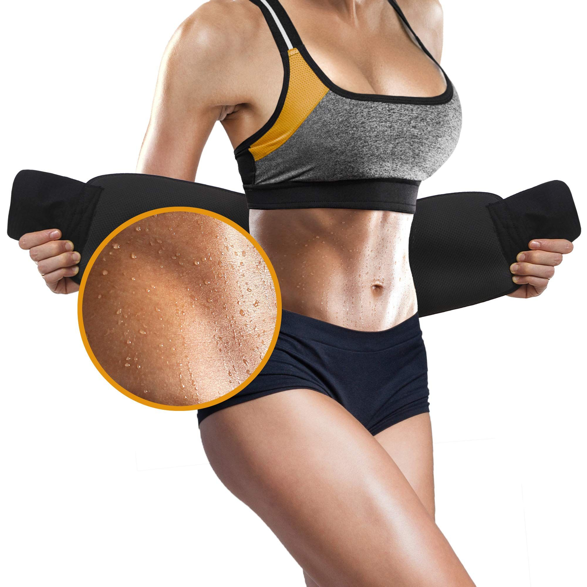 Men/&Women Thermo Shaper Waist Trainer Trimmer Belt Sports Fitness Sauna Sweat US