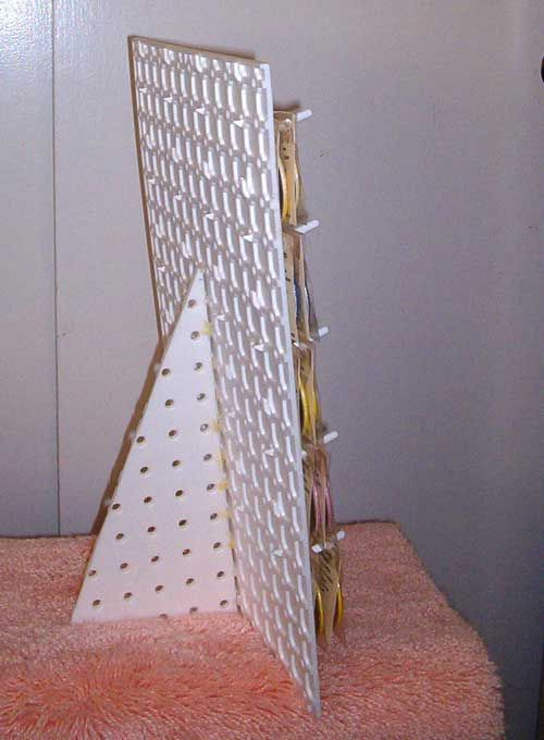 Use A Piece Of Another Peg Board To Prop Them Up More