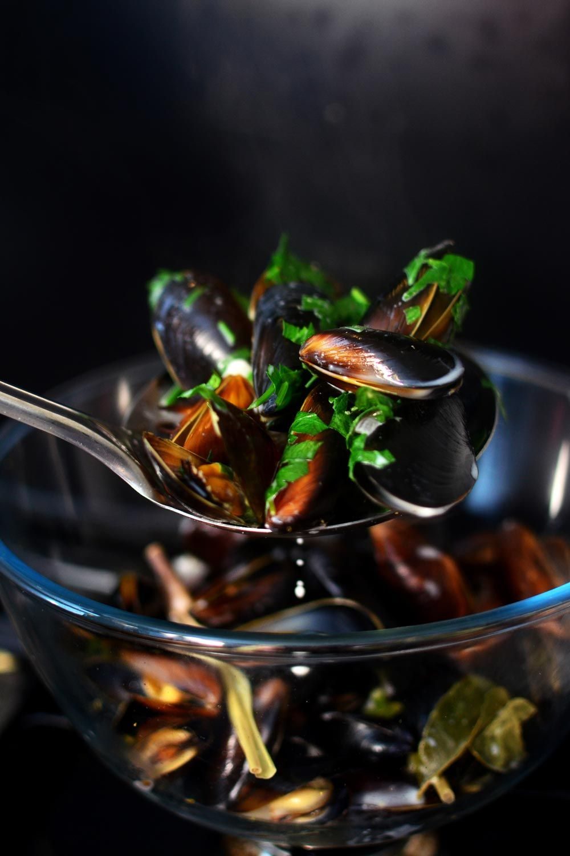 Vietnamese inspired mussels in a coconut milk lemongrass