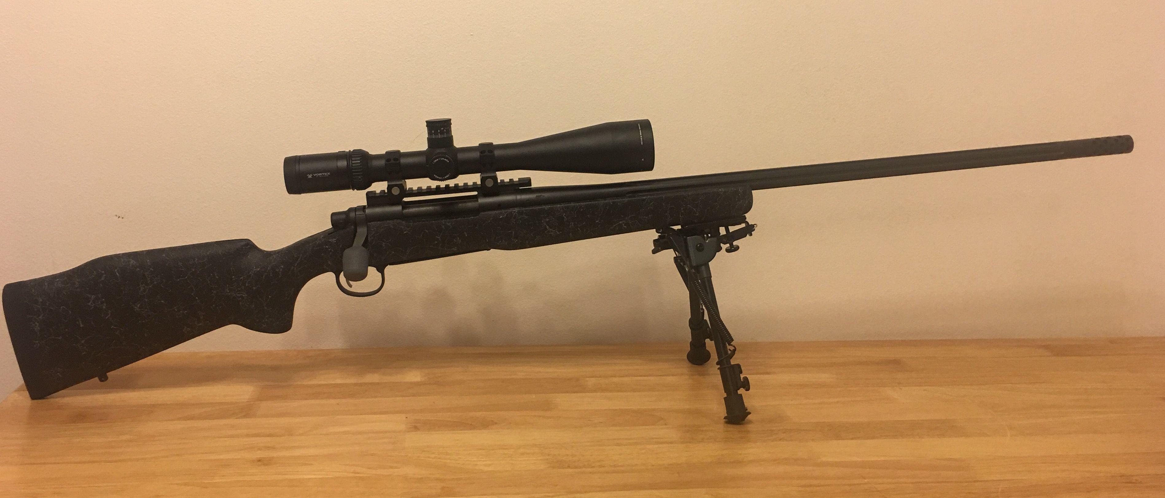 Remington 700 long range 7mm Rem Mag vortex hst 6-24 Cross