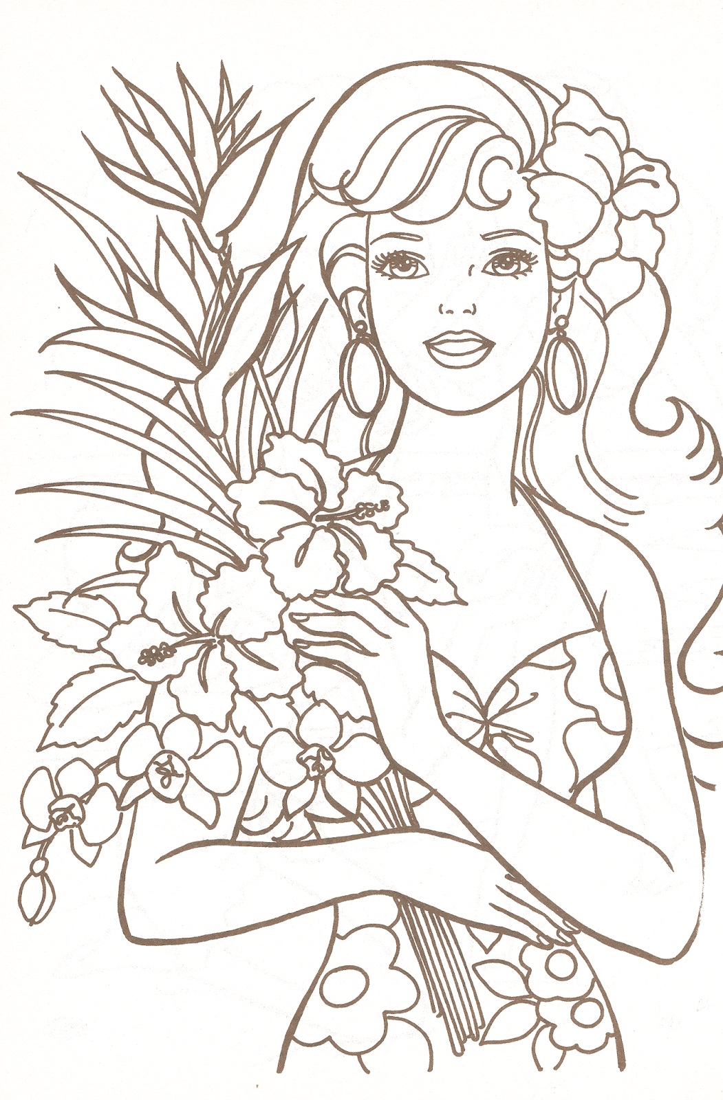 Barbie Coloring Pages Part 1 | Barbie coloring, Dolls and Coloring books