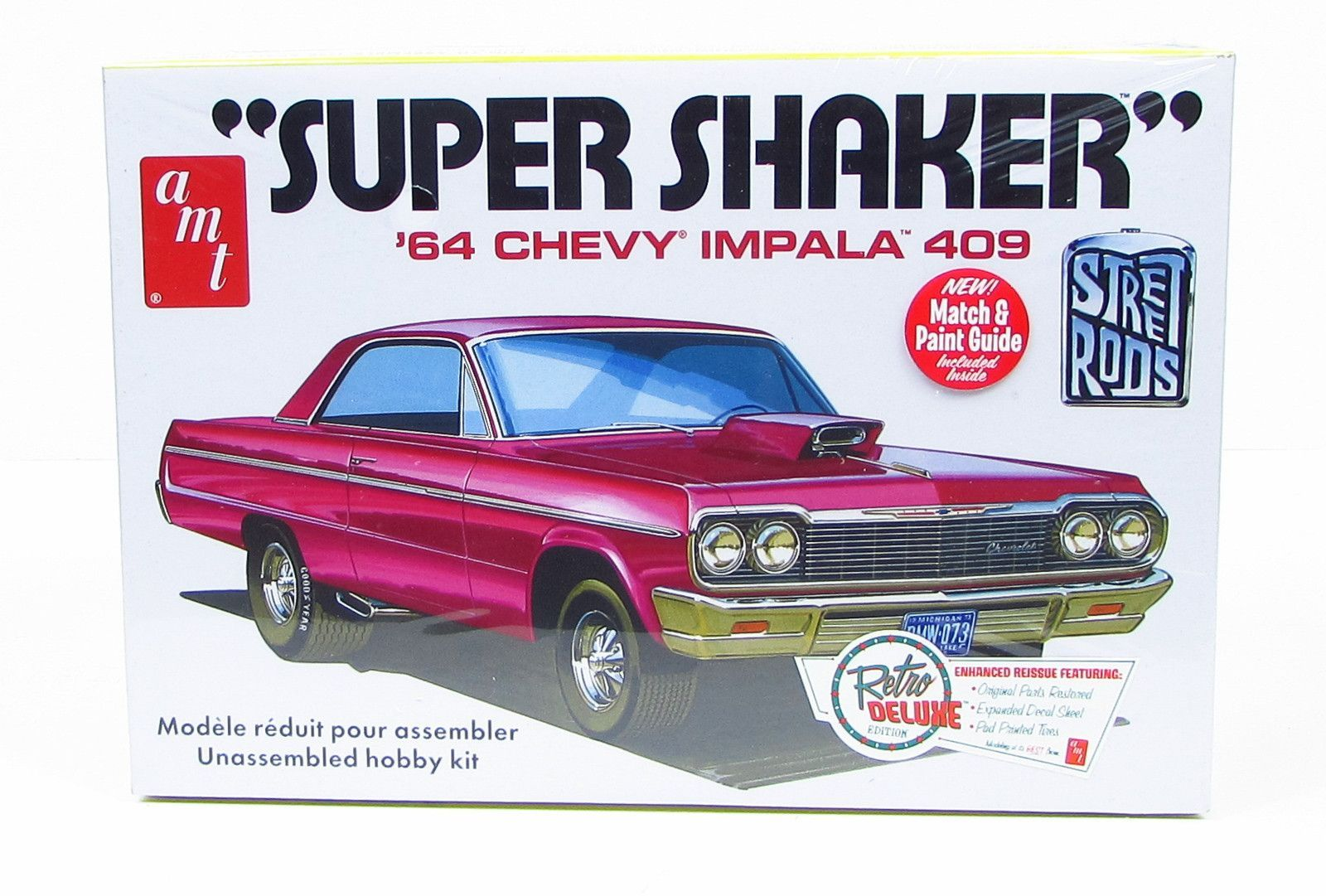 Little red wagon funny car pictures car canyon - 1964 Chevy Impala 409 Super Shaker Amt 917 1 25 Model Car Kit