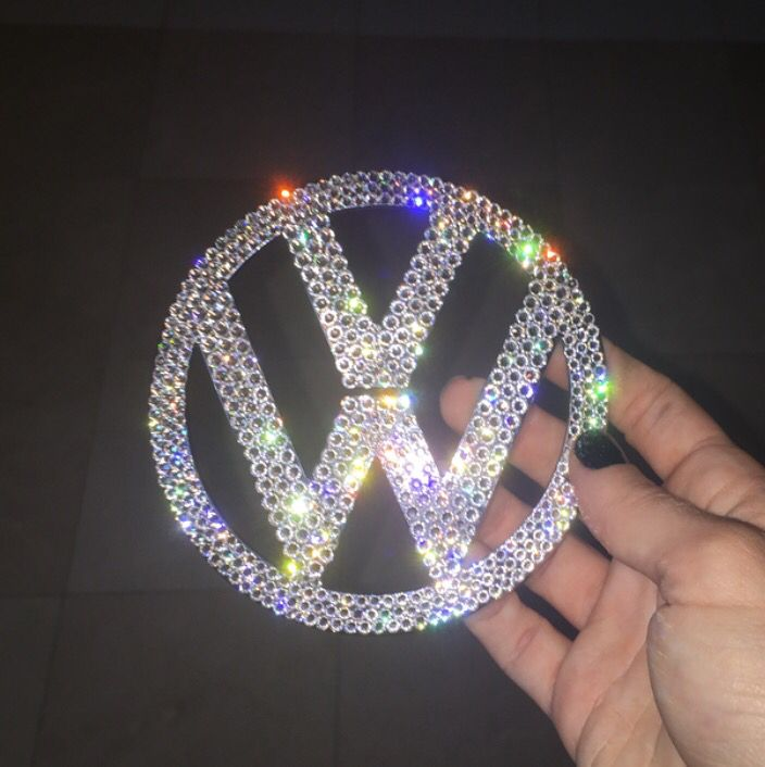 vw Crystal trunk emblem @icycouture