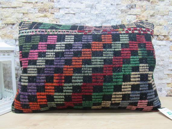 handwoven kilim pillow embroidered kilim pillow sofa pillow 16x24 naturel kilim pillow ethnic pillow