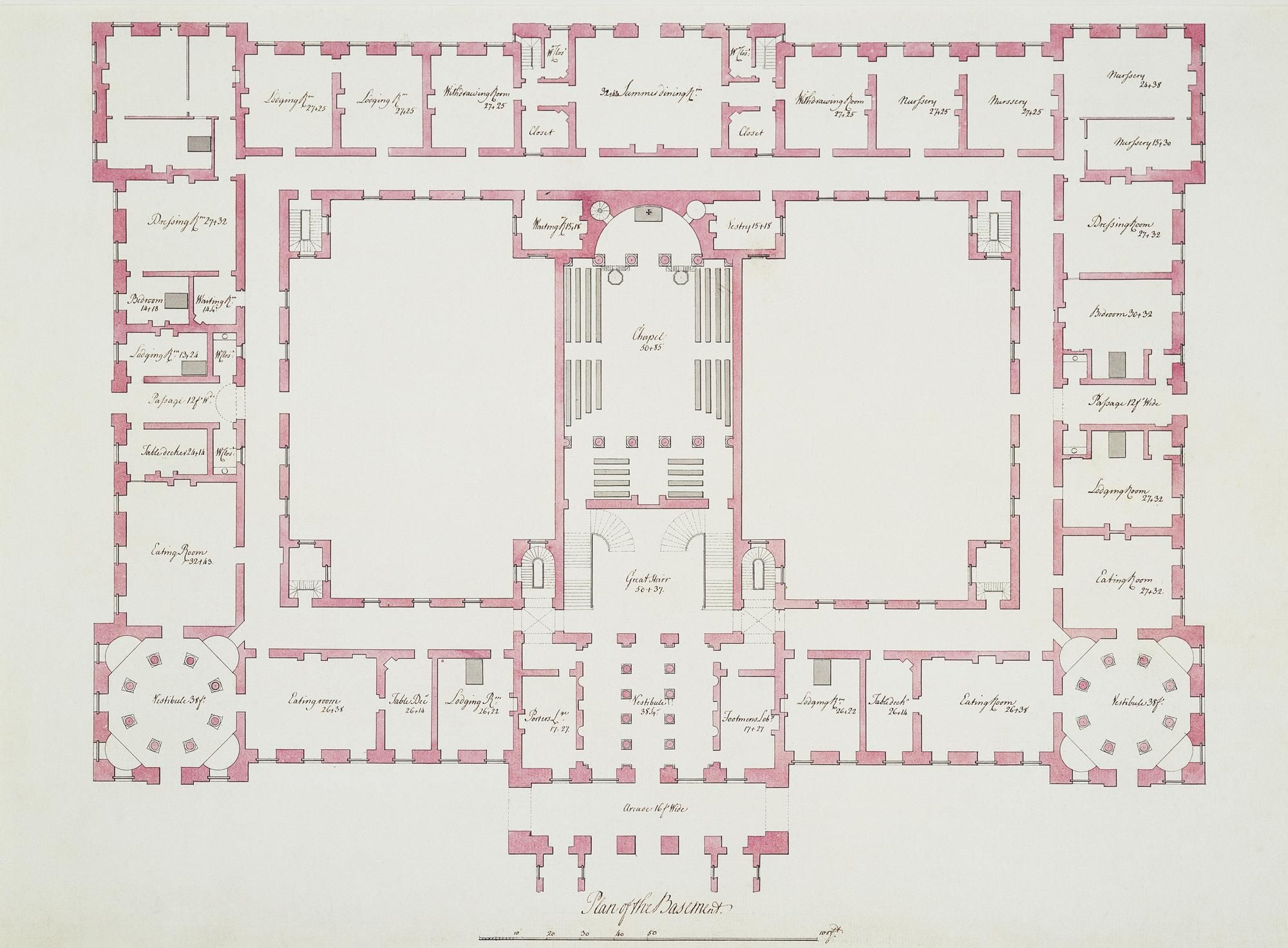 Two plans of richmond palace royal collection trust for Palace plan