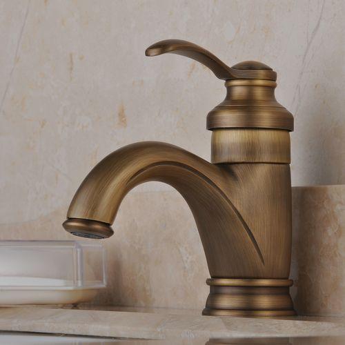 antique robinet inspirée lavabo fini laiton antique F0405A