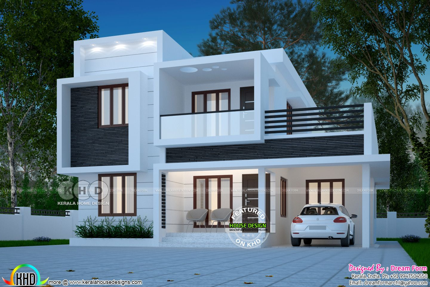 Box Model Home Kerala Jpg 1440 960 Kerala House Design House Design Pictures Beautiful House Plans
