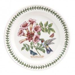 Portmeirion Botanic Garden Birds Dinner Plate Ruby Throated