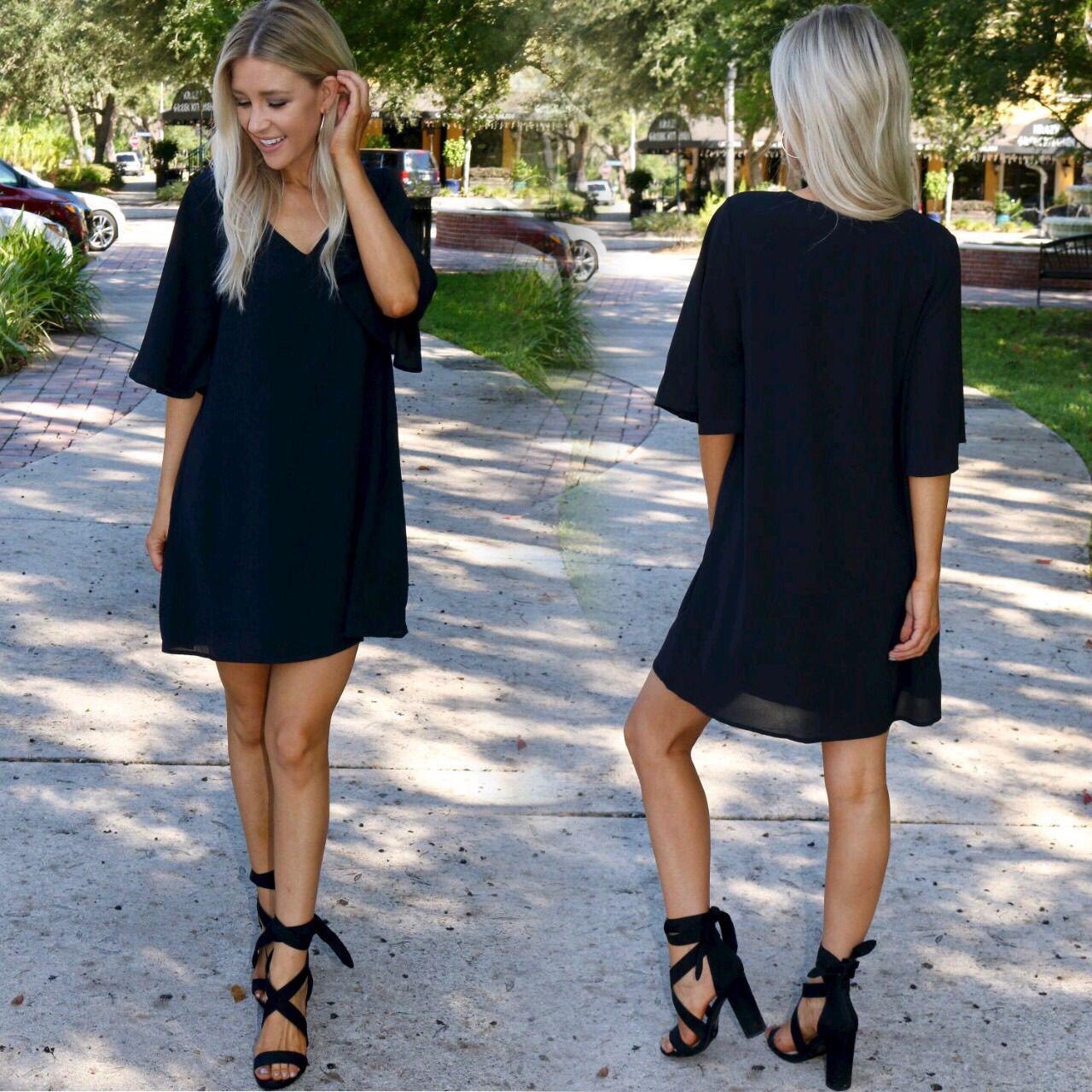 Short Bell Sleeve Dress Black Black Bell Sleeve Dress Black Graduation Dress Graduation Outfit [ 1280 x 1280 Pixel ]