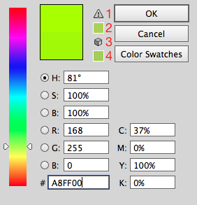 Color picker - colors look dull - RGB and CMYK | Illustrator