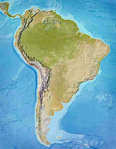 Topographic Map South America Fantasy Maps Pinterest America