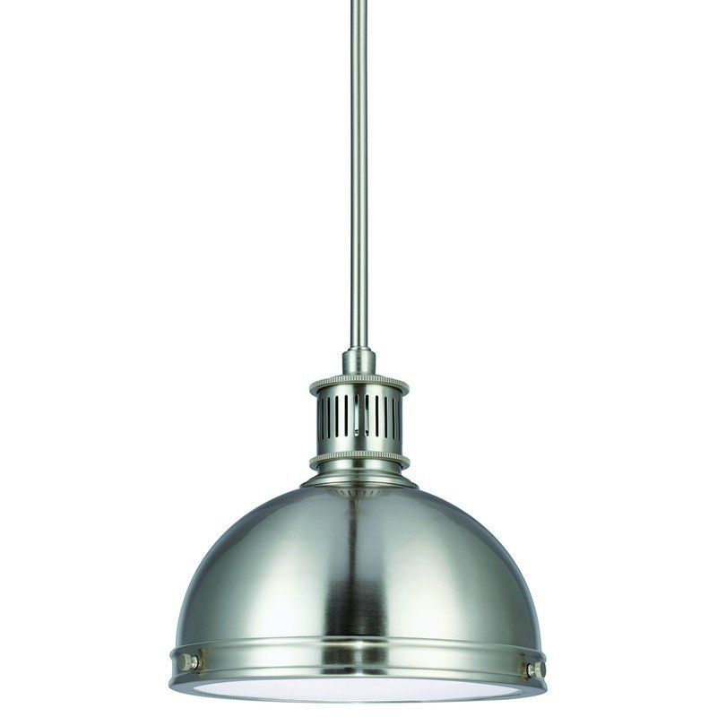 Exceptional Buy The Sea Gull Lighting Brushed Nickel Direct. Shop For The Sea Gull  Lighting Brushed Nickel Prat Street 1 Light Energy Star Title 24 Mini  Pendant And ...