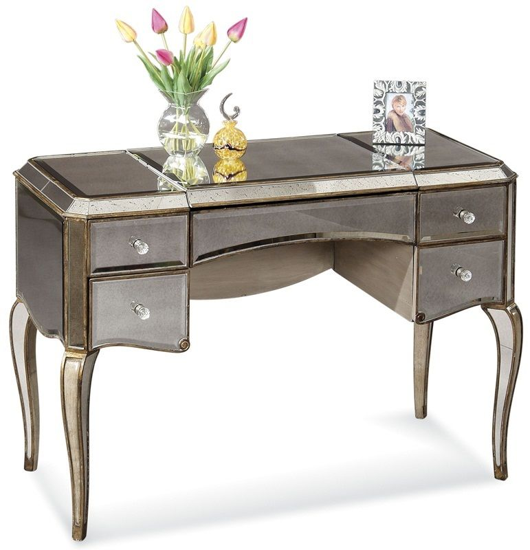 Mirrored Cabriole Leg Writing Desk T1267 913ec By Bassett Mirror