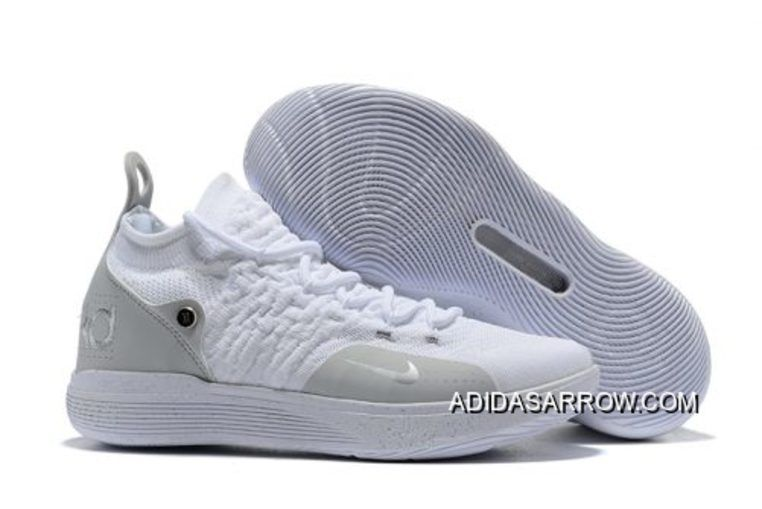 outlet store 9402b b2e7f Discount Nike KD 11 White/Grey/Chrome Pure Platinum, Price: $91.46 - adidas  Shoes Big Deals