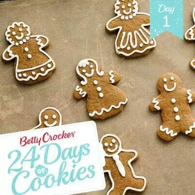 Betty Crocker 24 Days Of Cookies Ginergbread Cookies Food In