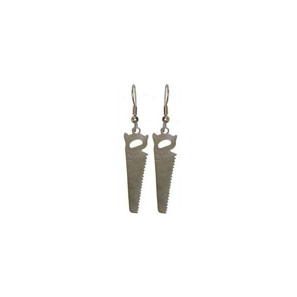 "1 3/8"" Saw Earrings ($4.99) ❤ liked on Polyvore featuring jewelry, earrings, accessories and earrings jewelry"