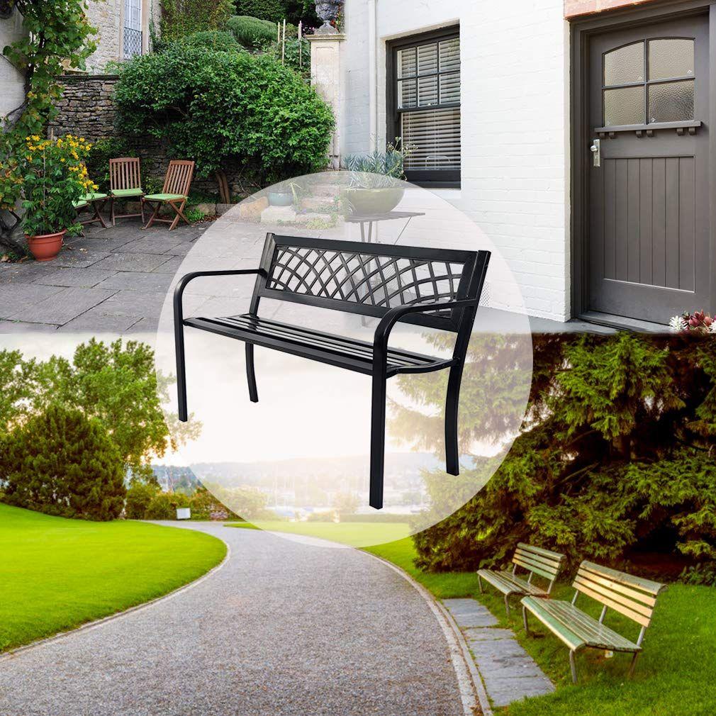Amazon Com Patio Park Garden Bench Porch Path Chair Outdoor Deck