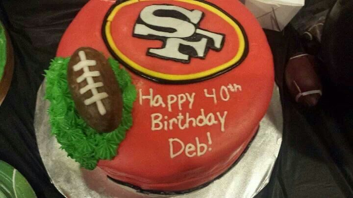 49 ers birthday cake by cakes by gabriela of houston tx