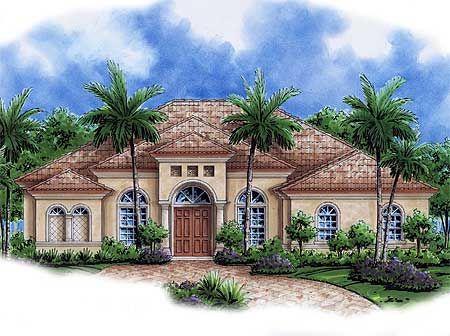Plan 76022GW Perfect One Level Mediterranean House Plan